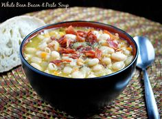 White Bean & Bacon Soup - Musings of a Housewife