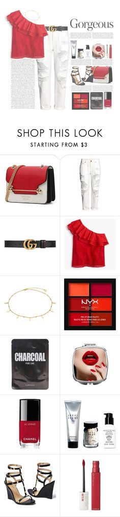 """""""3 in 1"""" by infinite-sea ❤ liked on Polyvore featuring H&M, Gucci, J.Crew, NYX, Chanel, Bobbi Brown Cosmetics, Venus and Maybelline"""