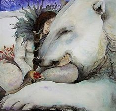 Polar Bear Illustration by Jackie Morris Art And Illustration, Polar Bear Illustration, Watercolor Illustration, Fantasy Kunst, Fantasy Art, Art D'ours, Image Halloween, East Of The Sun, Photo D Art
