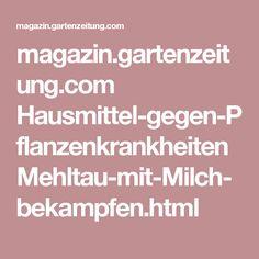 magazin.gartenzeitung.com Hausmittel-gegen-Pflanzenkrankheiten Mehltau-mit-Milch-bekampfen.html