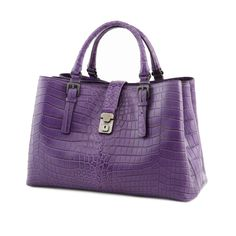 Splurge-Worthy: ROMA BAG | BOTTEGA VENETA - Edoardo soft crocodile leather Roma bag with intreccio top-handles.