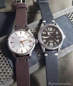 SARG009 and SRPB47J #seiko #seikowatches #yeomanseiko #watchporn #cheapestnatostraps #wristwatches