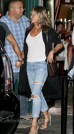 Jennifer Aniston Can't Stop Wearing Her GRLFRND Jeans