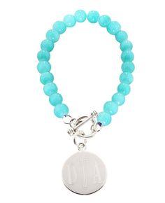 Sterling Silver Plated Blue Bracelet