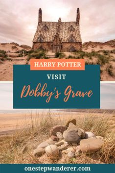 Pay tribute to Dobby at his grave in Wales. Visit this Harry Potter filming location in Freshwater West. Harry Potter Filming Locations, 43 Things, Deathly Hallows Part 1, Literary Travel, Visit Wales, Dobby, Where To Go, Cool Places To Visit, Night Life