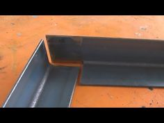 Joining Angle Iron at 90 Degrees using an easy Cope Joint. Preparation for Welding. - Cool Welding Project Ideas for Home Welding Classes, Welding Art Projects, Welding Jobs, Diy Welding, Metal Projects, Welding Gear, Blacksmith Projects, Diy Projects, Welding Certification