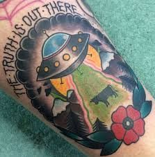 Image result for ufo tattoo traditional