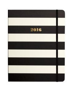 kate spade new york  Black Stripe Large 17 Month Agenda