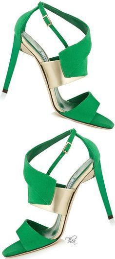 Jimmy Choo Trapeze Green Suede Sandals 100 $950.00