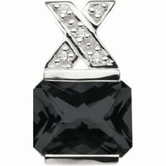 Platinum Emerald Cut Onyx and Diamond Pendant Gems-is-Me. $1107.65. FREE PRIORITY SHIPPING. This item will be gift wrapped in a beautiful gift bag. In addition, a 'gift message' can be added.. Save 40%!