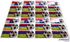 Etiquetas resinadas Selección Colombia