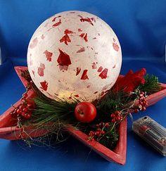 Weihnachtlicher Leuchtkugelteller