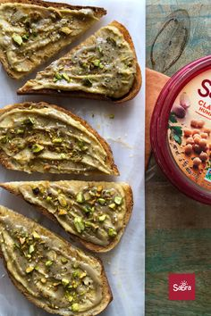 6 ingredients Condiments 2 tbsp Honey 2 Sabra classic hummus 2 tsp Tahini Baking & Spices 2 tsp Sesame seeds, toasted Nuts & Seeds 3 tbsp Pistachios Bread & Baked Goods 4 slices Bread of your choosing, toasted Pistachio Bread, Honey Toast, Vegan Recipes, Easy Recipes, Bread Baking, Breakfast Recipes, Breakfast Ideas, Avocado Toast, Baked Goods