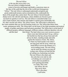 My Africa                                                       …