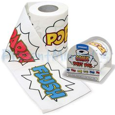 Comic Book Toilet Roll | Novelty Funny Loo Tissue Paper For The Bathroom
