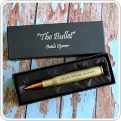 Engraved Bullet Bottle Opener Bridal Party by PersonalisedFavours