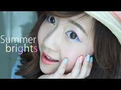 Summer Brights Look- Bubzbeauty.  Loving this sweet and cute pastel look! It's cute and colorful without being overwhelming or too loud. :)