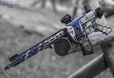 Blown Blue AR15 🔥 • @BlownDeadline Cerakote @LawTactical Folding Stock Adapter…