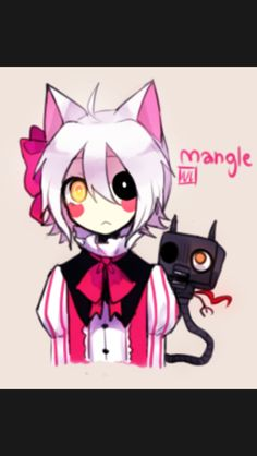 Chibi mangle five nights at freddy s pinterest chibi ears and