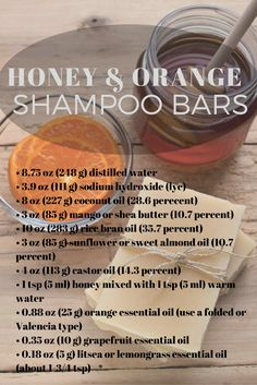 Honey Shampoo Bars - Health and Wellness Protect your hair from harsh, drying winter weather with this nourishing shampoo bar.Protect your hair from harsh, drying winter weather with this nourishing shampoo bar. Honey Shampoo, Diy Shampoo, Natural Shampoo, Shampoo Bar, Natural Soaps, Homemade Shampoo And Conditioner, Shampoo Bottles, Savon Soap, Nourishing Shampoo