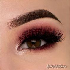 Maroon Smokey Eye @denitslava ♡♥️♡♥️♡♥️