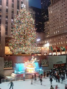 Rockfeller Center, New York,  I WILL see this one day. It's been on my bucket list for as long as I can remember! And at Christmas time!