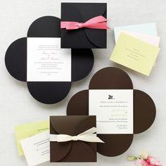 Petal Wrap Wedding Invitation - Petal Envelopes and Invitations