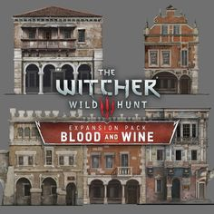 The Witcher Hunt - Blood & Wine Buildings, Andrzej Dybowski The Witcher Wild Hunt, The Witcher 3, Types Of Architecture, Classic Architecture, Game Environment, Environment Concept Art, Apocalypse Landscape, Buildings Artwork, Castle Project