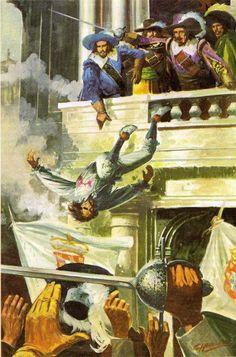 A 1 de Dezembro de 1640, um grupo de 40 fidalgos introduz-se no Paço da Ribeira, onde reside a Duquesa de Mântua, representante da coroa espanhola, mata o seu secretário Miguel de Vasconcelos e vem à janela proclamar D. João, Duque de Bragança, rei de Portugal. Termina, assim, 60 anos de domínio espanhol sobre Portugal. Fácil...