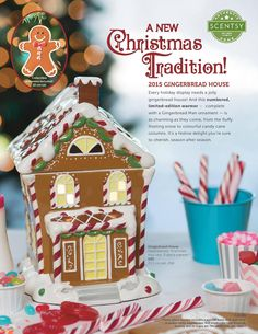 Every holiday display needs a jolly gingerbread house! Introducing our numbered, limited-edition 2015 Gingerbread House Warmer, complete with a matching Gingerbread Man ornament to hang on your Christmas tree. This hand-painted, three-piece warmer is as charming as they come, from the fluffy frosting snow to colorful candy cane columns. It's a festive delight you're sure to cherish, season after season. Gingerbread House is available for $90 beginning Nov. 1st!