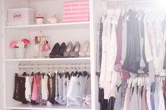 Closet Inspiration - organized closet with multiple racks