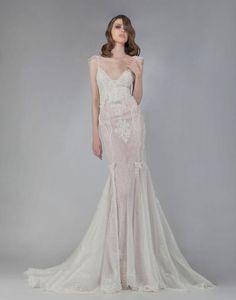 Fall 2016 Victoria KyriaKides sheath wedding dress | https://www.theknot.com/content/victoria-kyriakides-wedding-dresses-bridal-fashion-week-fall-2016