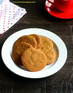 Eggless whole wheat oats cookies without butter