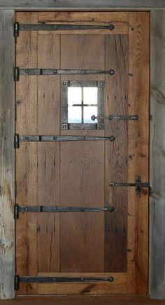 Oak Doors, Entrance Doors, Garage Doors, Wooden Stairs, Wooden Doors, Speakeasy Door, Barn Door Latch, Door Hinges, Mountain House Decor