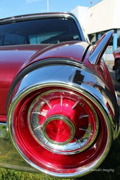 The classic Ford Thunderbird tail light. American Classic Cars, Ford Classic Cars, Retro Cars, Vintage Cars, Ford Motor Company, Rat Rods, Muscle Cars, Ford Thunderbird, Hood Ornaments