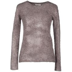 Roberto Collina Jumper ($115) ❤ liked on Polyvore featuring tops, sweaters, mauve, roberto collina sweater, red jumper, long sleeve tops, red long sleeve top and long sleeve jumper