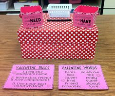Students write valentines to each other during the month of February and get to hand them out at the end of every day.