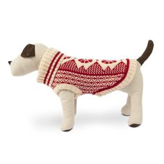 Ski lodge ready, this cozy and classic sweater will ensure your pup is warm when cold weather is near. Large Dog Sweaters, Dog Toy Storage, Pom Dog, Durable Dog Toys, Cute Dog Clothes, Knit Dog Sweater, Dog Backpack, How To Make Rope, Dog Boots