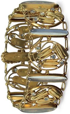 OBJECT LESSON Original Wiener Werkstätte jewelry (such as the bracelet, shown here) commands six-figure prices on the rare occasions that it comes to market. Some 40 pieces are on display at New York's Neue Galerie this spring, and the museum's design shop is celebrating the occasion by commissioning a small collection of reproductions from Viennese artisans, in editions of five per year. A single brooch can take 180 hours to complete, which explains the limited availability.