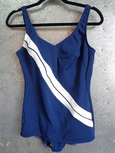 1950s Robby Len Swimsuit Pin Up Navy Blue and by vintageomaha, $40.00