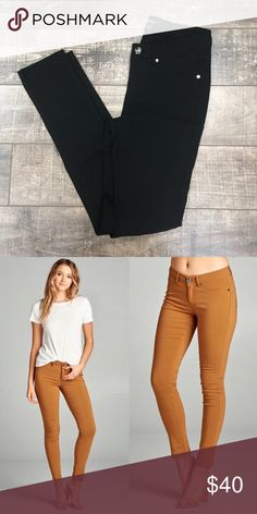 """NEW!!! Black skinnies! BEST. PANT. EVER. I absolutely love these so much I had to get a pair myself! These go with just about anything! Grab a pair for yourself and see!  Inseam measurements: SMALL - 29"""" MED - 29.5"""" LARGE - 30""""   Materials: Rayon 75%  Nylon 21% Spandex 4% Pants Skinny"""
