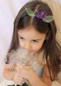 Purple Flower Headband by BloomingBottle on Etsy