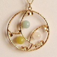 Tenderness . necklace . stones by CocoroJewelry