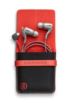 Backbeat Go2 Earphones -- bluetooth earbuds that have a charging case.