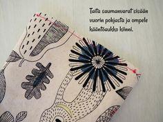 DIY: Pussukka tuplavetoketjulla - Punatukka ja kaksi karhua Sewing Patterns, Cards, Totes, Maps, Patron De Couture, Dress Patterns, Playing Cards