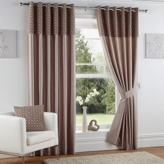 Incredible discounts & savings on eyelet curtains. We offer a wide range of affordable eyelet & tab top curtains. All with Free Delivery on order over Faux Silk Curtains, Tab Top Curtains, Brown Curtains, Velvet Curtains, Lined Curtains, Ready Made Eyelet Curtains, Buy Curtains Online, Cheap Windows