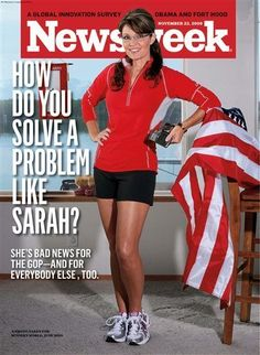 """The upcoming issue of Newsweek has a cover story about former Alaska governor Sarah Palin. Here's the picture with the headline, """"'I Can Win"""": Sarah Palin on why she's so confident - and how she'll decide whether to run in Sarah Palin Photos, Christine Teigen, Stacey Dash, Christopher Hitchens, Mckayla Maroney, Everybody Else, Runners World, Comics, Magazine Covers"""