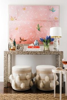Masterfully styled poufs: http://www.stylemepretty.com/living/2015/10/04/the-must-have-piece-every-home-should-have/