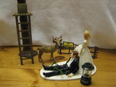 Deer Hunting Wedding cake topper Groom's Cake bow deerstand