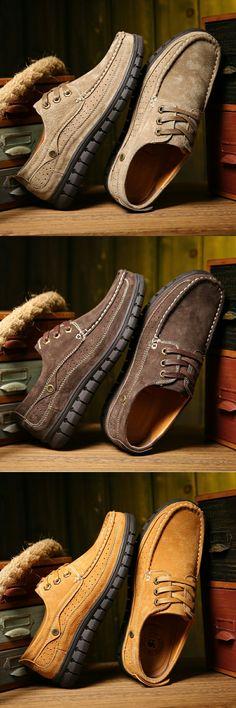 >> Comprar aqui << Prelesty Steampunk Estilo Hombres de la Marca de Plataforma Zapatos Hombres Zapatos Casual de Invierno Hecho A Mano de Cuero de Gamuza de Alta Calidad